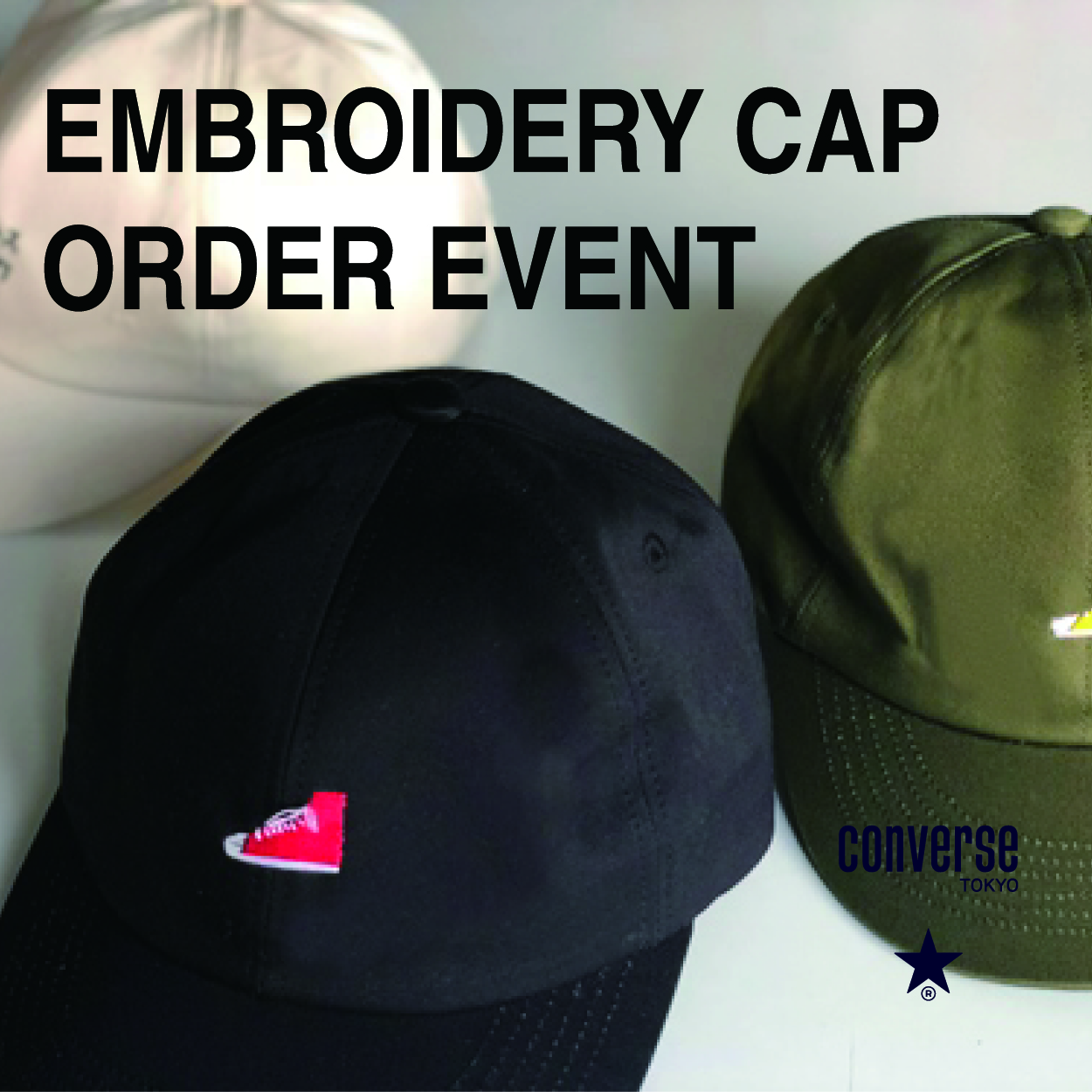 EMBROIDERY CAP ORDER EVENT