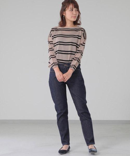 ☆Border India knit pullover☆