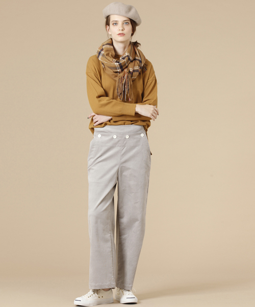 ☆ Hosose corduroy wide straight pants☆