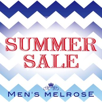 【50~30%OFF】2016 SUMMER SALEスタート!メンズメルローズオンラインストア限定