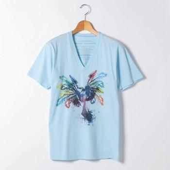 美しいグラフィックプリントTシャツmalteepurpose
