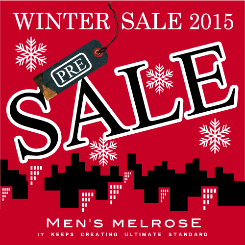 【MAX50%OFF】2015 WINTER PRE SALEスタート