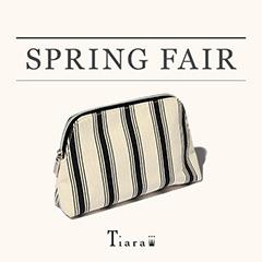 【配布終了】Tiara Spring FAIR ¥30,000(税抜)以上お買い上げでストライプポーチプレゼント